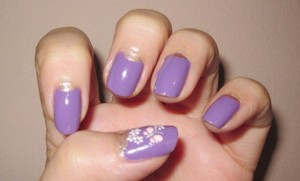 Half-Moon Reverse French Manicure Tutorial