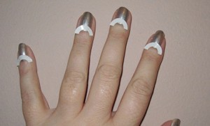 Half-Moon Reverse French Manicure Tutorial - hand